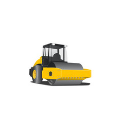 Simple 3d yellow compactor vector