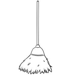 Single broom vector