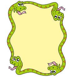snake frame 3 vector image