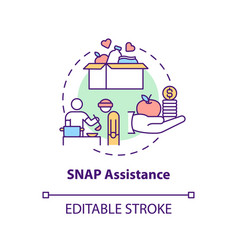 Snap assistance concept icon vector