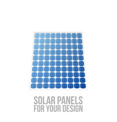 solar panels for your design vector image