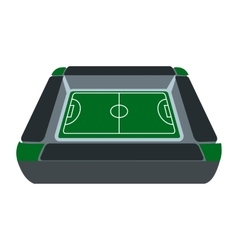 Square soccer field icon vector