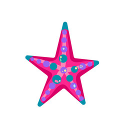 starfish cartoon vector image