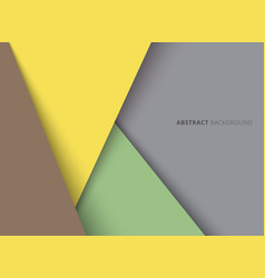 template geometric triangle yellow green brown vector image