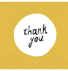 thank you card yellow paper vector image