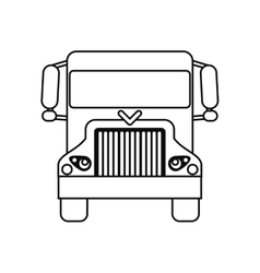 truck delivery shipping cargo outline vector image
