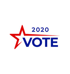 usa vote text presidential election day vector image