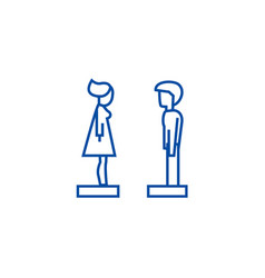 woman and man in profile line icon concept woman vector image