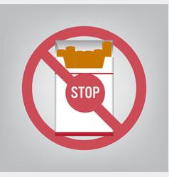 world no tobacco day concept stop smoking vector image