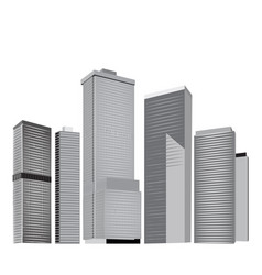 city skyline in grey colors vector image vector image