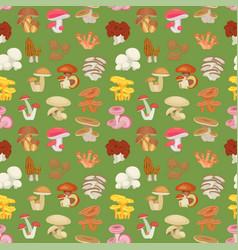 edible mushroom seamless pattern vector image vector image