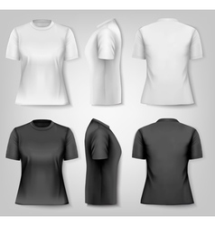 Female T-shirts with sample text space vector image vector image