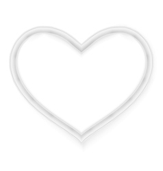 Picture frame heart shape EPS 10 vector image vector image