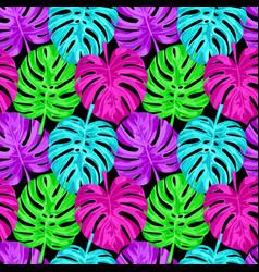 pink monstera seamless pattern vector image vector image