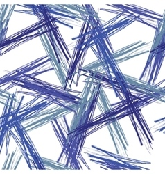 Seamless grunge background of blue brushes vector image vector image