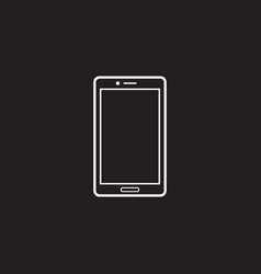 smartphone line icon outline logo vector image