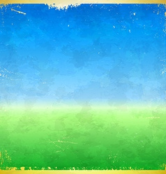 Spring themed grungy retro background vector image vector image