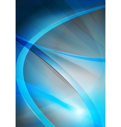 Wavy design vector image vector image