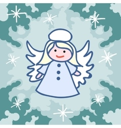 Christmas angel doodles vector image vector image