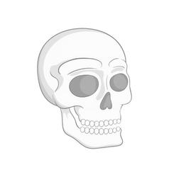 Human skull icon black monochrome style vector image