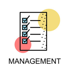 list icon for management on white background vector image vector image