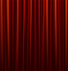 seamless red curtain vector image vector image