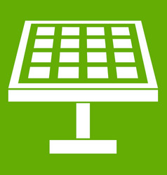solar energy panel icon green vector image