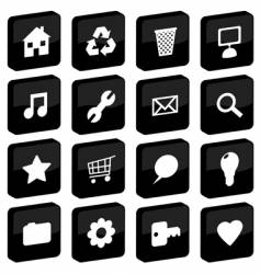 tile icons vector image vector image