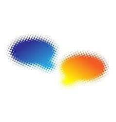 two halftone bubbles vector image