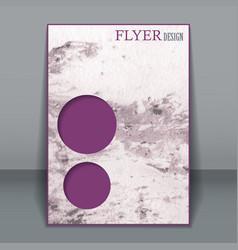 vertical business flyer brochure for design vector image