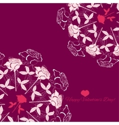 Background with ornamental round rose vector image