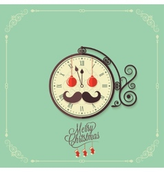 christmas vintage card background vector image