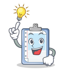 have an idea clipboard character cartoon style vector image