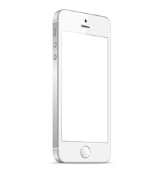 Realistic white mobile iphone 5s vector image vector image
