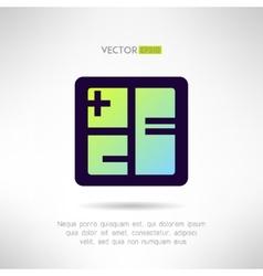 Simple calculator icon im modern design vector image