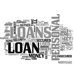 a beginner s guide to personal loans text word vector image