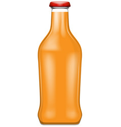 A bottle of oranage juice vector