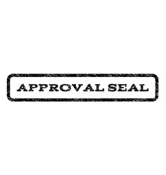 Approval seal watermark stamp vector