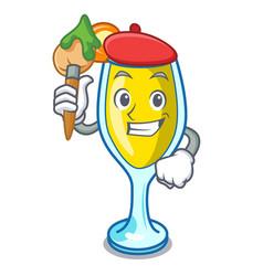 Artist mimosa character cartoon style vector