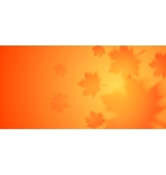 Autumn banner with blurred maple leaves vector image