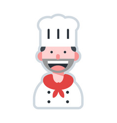 Avatar chef flat vector