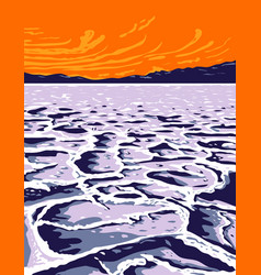 badwater basin in death valley national park vector image