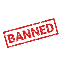 banned rubber stamp isolated sticker vector image