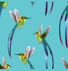 beautiful seamless tropic exotic jungle pattern vector image