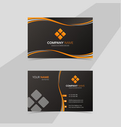 Black and orange theme business card or visiting vector