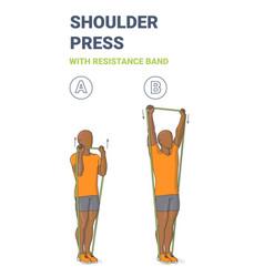 Black guy doing shoulder press home exercise vector