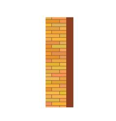 brick letter I vector image