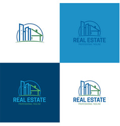 Buildings real estate logo and icon vector