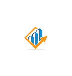 Business chart arrow logo vector