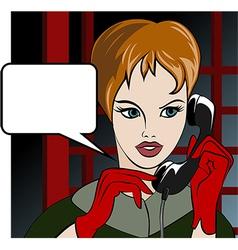 Calling girl vector image